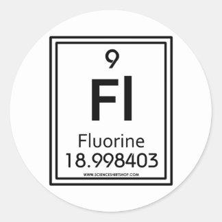 009 Fluorine Classic Round Sticker