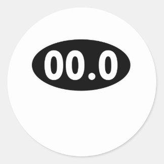 00.0 Running Oval Classic Round Sticker