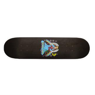 00-1-Skateboard-template-MY-CUT, Zodiac-Virgo-V-1R Skateboard Deck