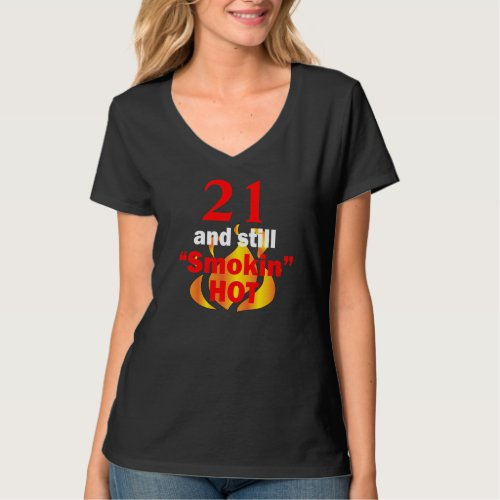 00 and Smokin Hot Flames _ Add Your Age T_Shirt