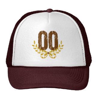 #00 Brown & Gold Wreath Trucker Hat