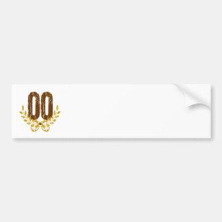 #00 Brown y guirnalda del oro Pegatina Para Auto