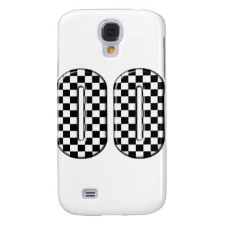 00 checkered auto racing number samsung galaxy s4 cover