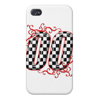 00 checkered flag number iPhone 4/4S cover