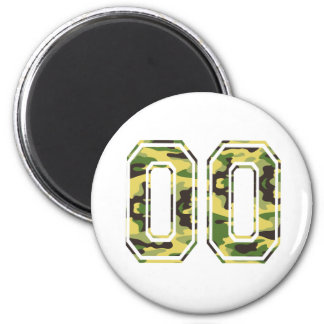 #00 Green & Yellow Camo Magnet