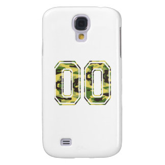 #00 Green & Yellow Camo Samsung S4 Case