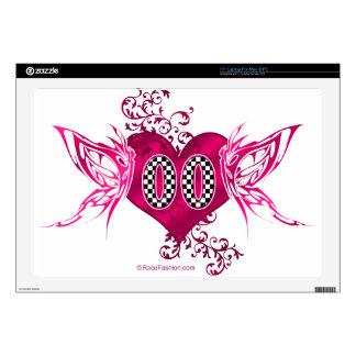 "00 racing number butterflies 17"" laptop skin"