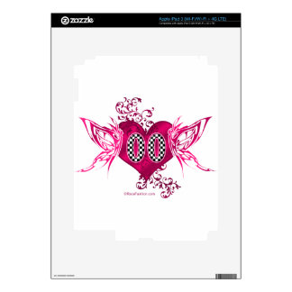 00 racing number butterflies skins for iPad 3