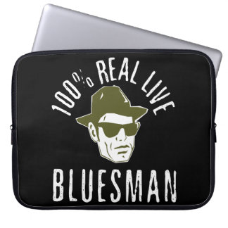 !00% Real LIve Bluesman Laptop Sleeve