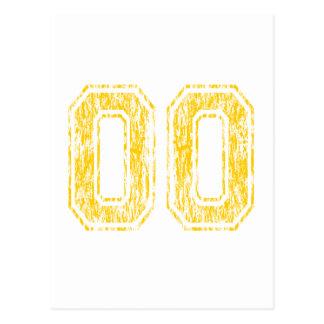 #00 Yellow Varsity Postcard