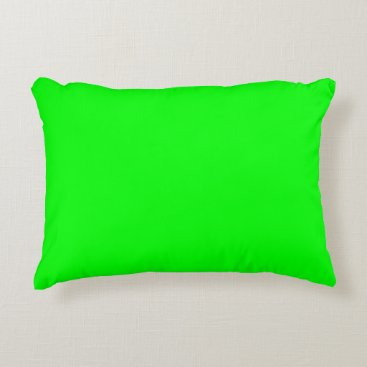Professional Business #00FF00 Hex Code Web Color Neon Green Accent Pillow
