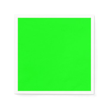 Professional Business #00FF00 Hex Code Web Color Neon Green Paper Napkin