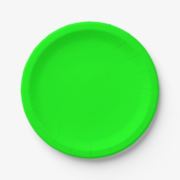 Professional Business #00FF00 Hex Code Web Color Neon Green Paper Plate