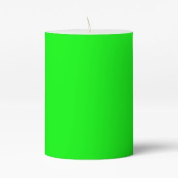 Professional Business #00FF00 Hex Code Web Color Neon Green Pillar Candle