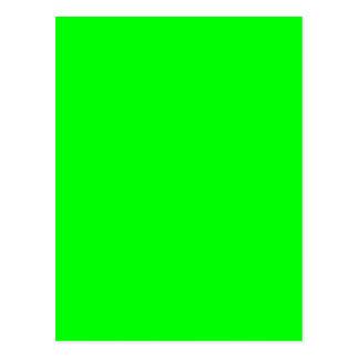 #00FF00 Hex Code Web Color Neon Green Postcard