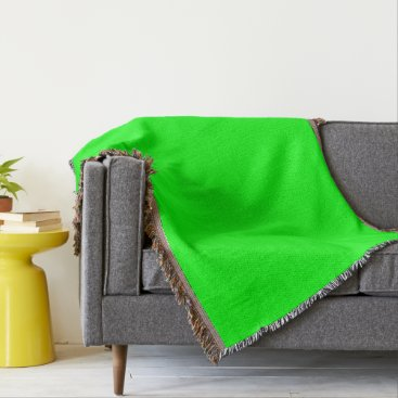 Professional Business #00FF00 Hex Code Web Color Neon Green Throw Blanket