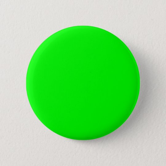 00FF00 Lime Green Pinback Button