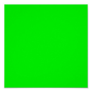 00FF00 Lime Green Poster