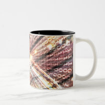 zero, one, binary, spiral, bin, net, inspirational, internet, sci fi, weird, eerie, face, girl, abstract, structures, digital, graphic, art, cyber, cyberspace, computer, software, science, mind, techno, something, strange, design, houk, glow, cool mugs, cute mugs, mug, mugs, Mug with custom graphic design