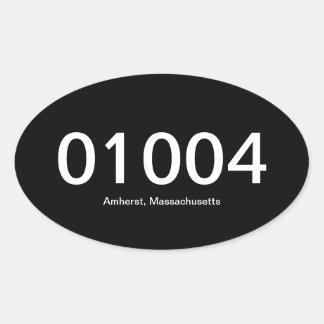 01004 Oval Bumper Sticker