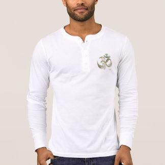0101 camisa de manga larga de Henley de la lona de