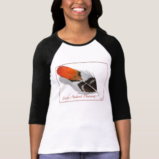 0101 Lady Amherst Pheasant 3/4 Sleve Raglan Fitted T-Shirt