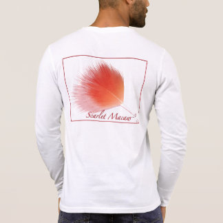 0101 Scarlet Macaw Canvas Henly Long Sleeve Shirt