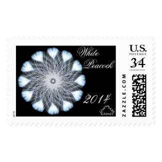0101 White Peacock 2014 B Postage Stamp