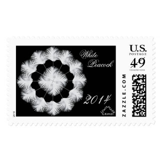 0101 White Peacock Snowflake 2014 C Postage Stamp