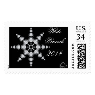 0101 White Peacock Snowflake 2014 Stamps
