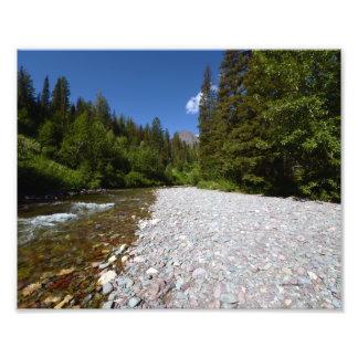 0102 8/12 Two Medicine Lake River Photograph