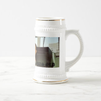 010, LOVE NEVER GROWS OLD BEER STEIN