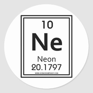 010 Neon Classic Round Sticker