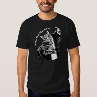 #010 Nora The Piano Cat Shirt