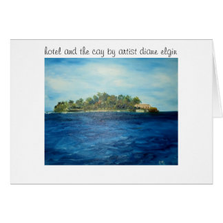 011, hotel and the cay by artist diane elgin card