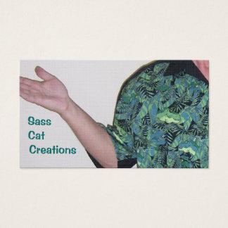 013, Sass , Cat, Creations Business Card