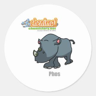 015 Phos of Chenimal Classic Round Sticker