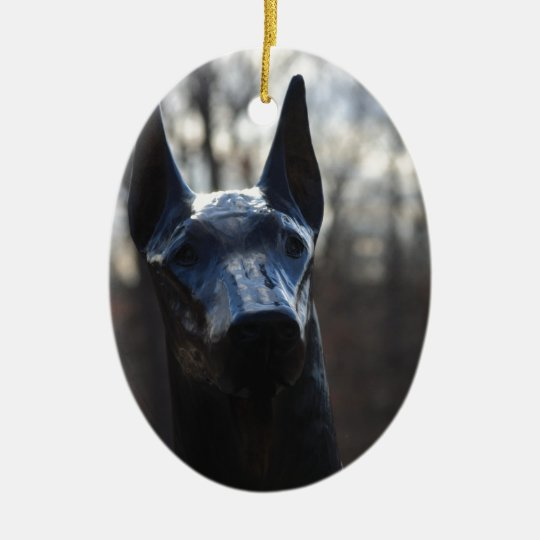 0166 Service Dog.JPG Ceramic Ornament