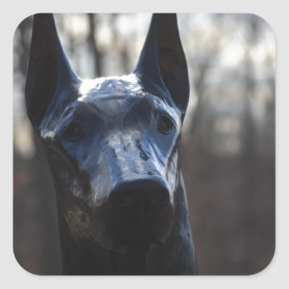 0166 Service Dog.JPG Square Sticker