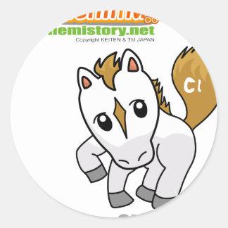 017 Chlor of Chenimal (Chlorine) Classic Round Sticker