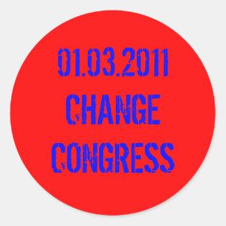 01.03.2011 CHANGE CONGRESS CLASSIC ROUND STICKER