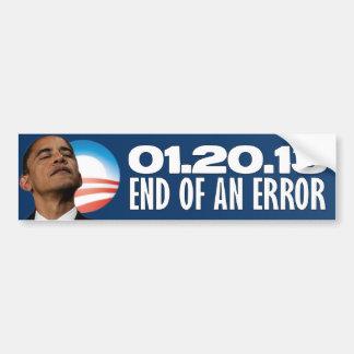01.20.13 - End of an Error - Anti Obama Car Bumper Sticker