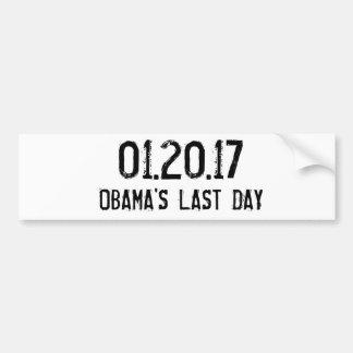 01.20.17, OBAMA'S LAST DAY BUMPER STICKER