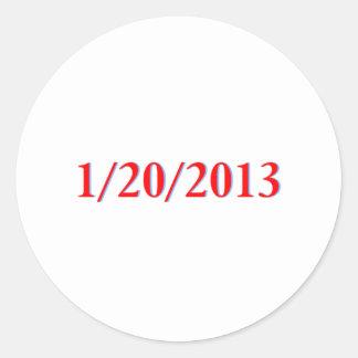 01/20/2013 - El día pasado de Obama como Pegatina Redonda