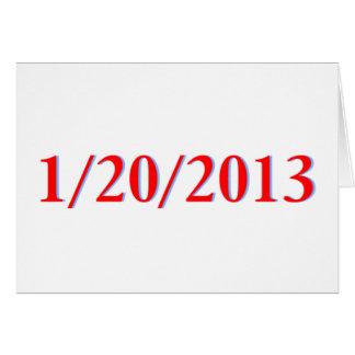 01/20/2013 - El día pasado de Obama como president Tarjetón