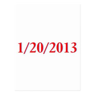 01/20/2013 - El día pasado de Obama como president Tarjeta Postal
