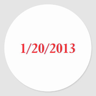 01/20/2013 - Obama's last day as President Classic Round Sticker