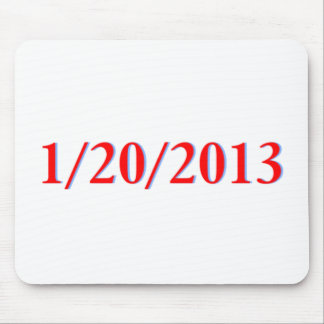 01/20/2013 - Obama's last day as President Mouse Pad