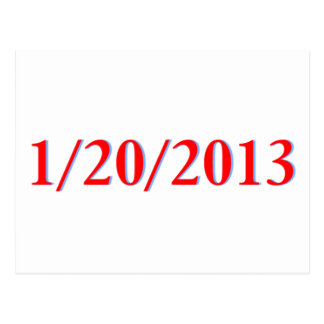01/20/2013 - Obama's last day as President Postcard