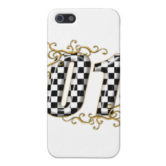 01 auto racing number case for iPhone SE/5/5s